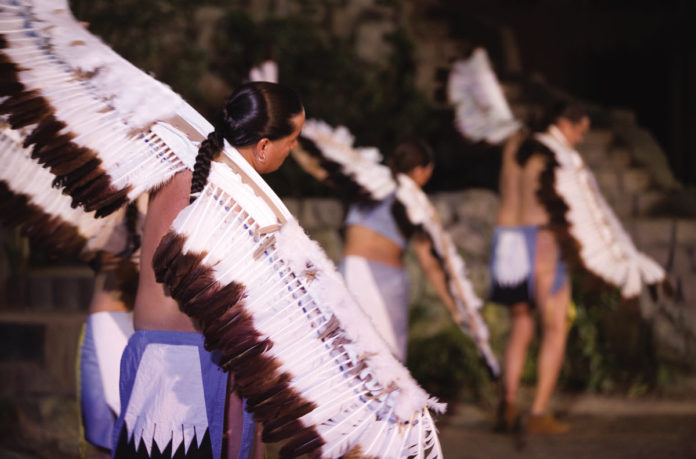winged dancers from the outdoor drama Unto These Hills