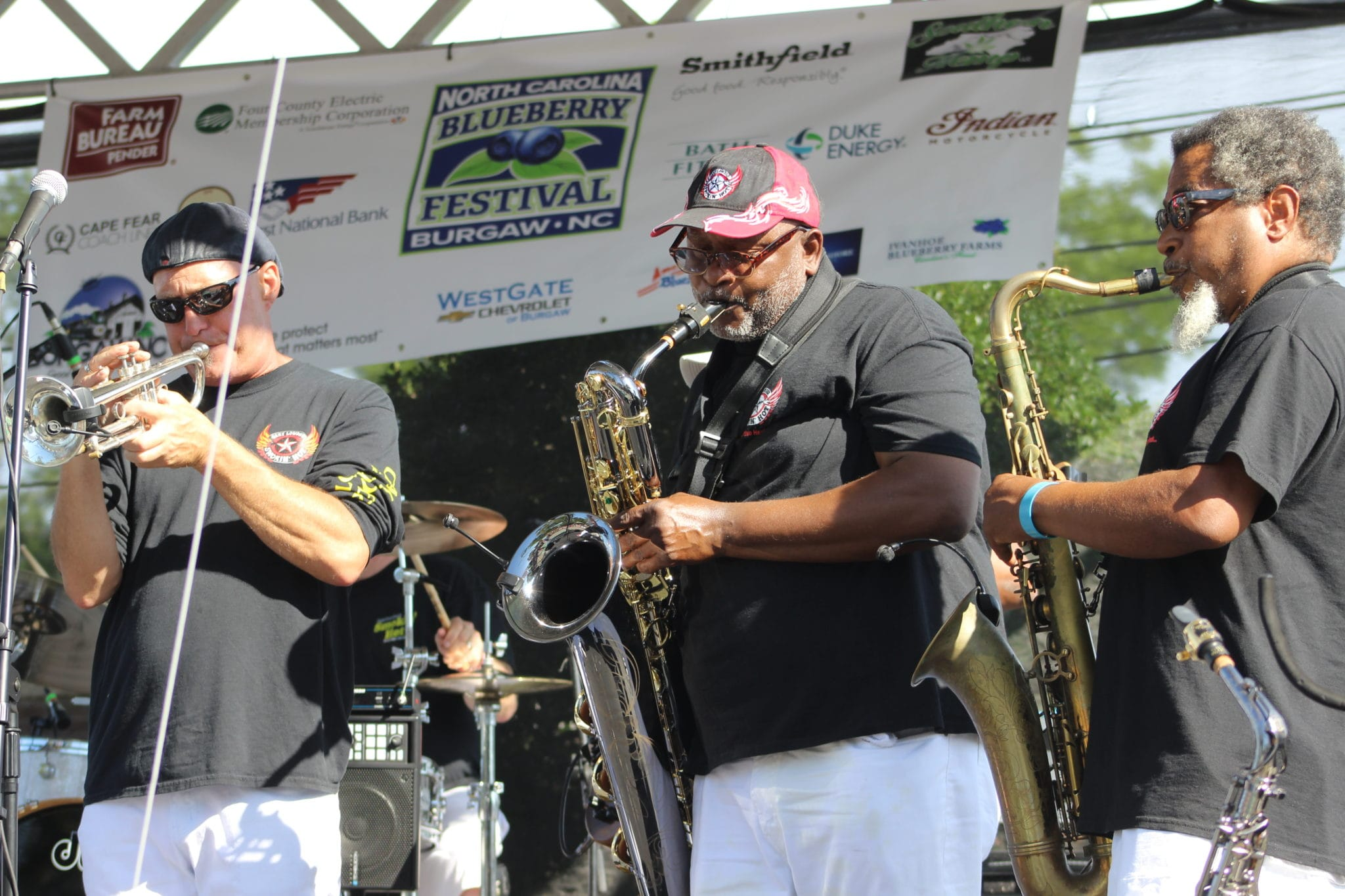 Band performs at the Blueberry Festival in Burgaw, NC