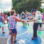 Couples dancing at the Blueberry Festivals